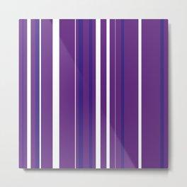 Purple Pin Stripes Metal Print