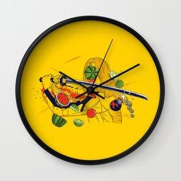 Kill Fruit Wall Clock