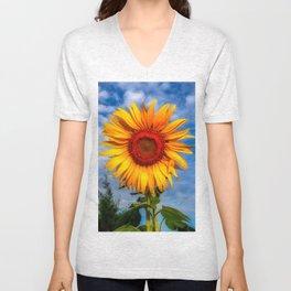 Blooming Sunflower  Unisex V-Neck