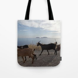 Goats by the sea Tote Bag