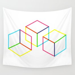 Cubes Wall Tapestry