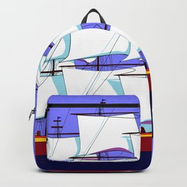 A Clipper Ship Full Sail in Still Waters Backpack