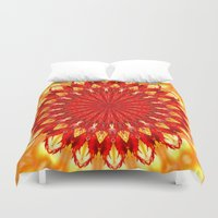 be happy Duvet Covers featuring HAPPY by Teresa Chipperfield Studios