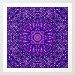 Lace Mandala in Purple and Blue Art Print