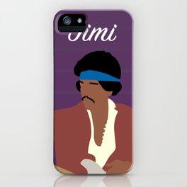 Minimalist Portrait of Jimi iPhone Case