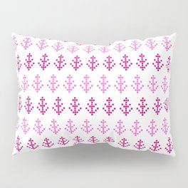 Watercolor Pink Pixel Trees Pillow Sham