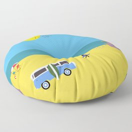 Surfer beach Floor Pillow