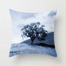 Vallecitos Road Oak Tree 005 Throw Pillow