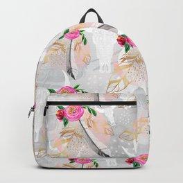 Romantic boho skull pattern Backpack