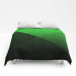 green triangle luminosity with darken and bright colors Comforters