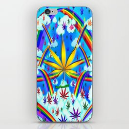 WetPaint420, High In The Rainbow Sky iPhone Skin