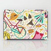 cycle iPad Cases featuring Seaside Cycle by Anna Deegan
