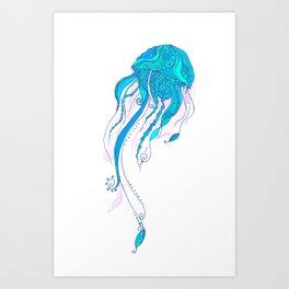 Jellyfish ornament Art Print