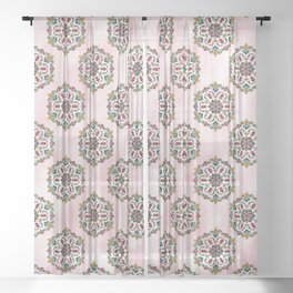 Botanical Mandala Sheer Curtain