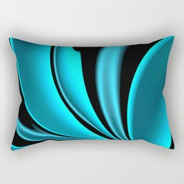 Abstract Fractal Colorways 02 Pacific Blue Rectangular Pillow