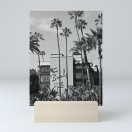 Beverly Hills Hotel, California black and white photograph / black and white photography Mini Art Print