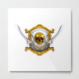 Pirate Emblem Metal Print