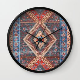 (N16) Boho Moroccan Oriental Artwork for Rustic and Farmhouse Styles. Wall Clock