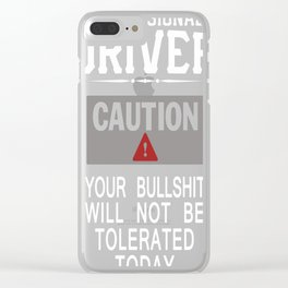 Truck Driver Safety Clear iPhone Case
