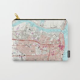Vintage Map of Corpus Christi Texas (1968) Carry-All Pouch