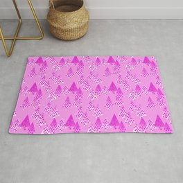 Modern Flower Christmas Trees, Orchid Pink Rug