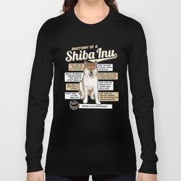 Anatomy of a Shiba Inu Long Sleeve T-shirt