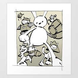 minima - beta bunny Art Print