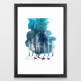 Winter Night 2 Framed Art Print