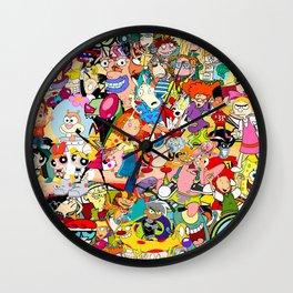 Childhood Cartoons Wall Clock