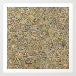 Brown Triangles Art Print