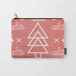 Red Winter Pattern Carry-All Pouch