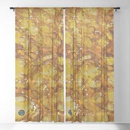 Golden Shatter Sheer Curtain