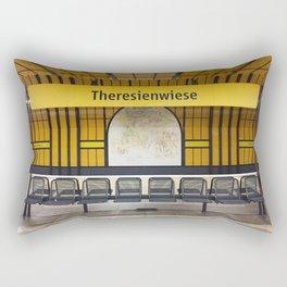 Munich U-Bahn Memories - Theresienwiese Rectangular Pillow