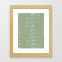 Raindrop Boho Abstract Pattern, Sage Green Framed Art Print