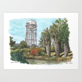 UC Davis Water Tower Art Print