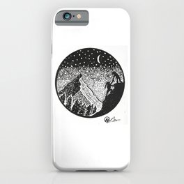 """Helping Hand"" Hand-Drawn by Dark Mountain Arts iPhone Case"