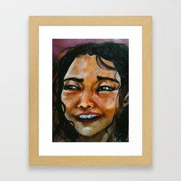 Camila (portrait girl) Framed Art Print