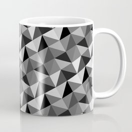 Pattern of triangles in gray shades Coffee Mug