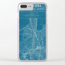 Canberra plan Clear iPhone Case