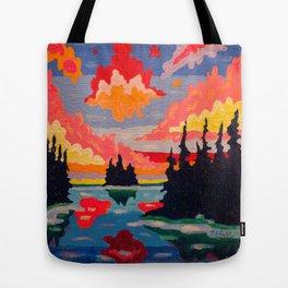 Northern Sunset Surreal Tote Bag