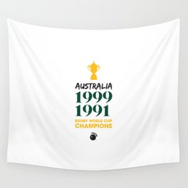 Rugby World Cup Champions — Australia Rugby Union side (Wallabies) Wall Tapestry