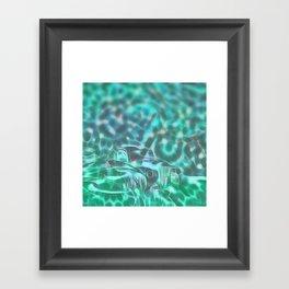 Underwater wreck Framed Art Print