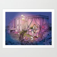 fairy tale Art Prints featuring Fairy Tale by Katie Badenhorst