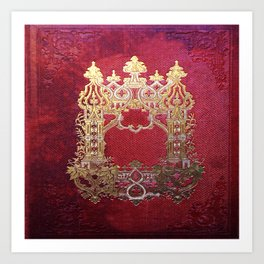 Ink Stained Crimson Book Art Print