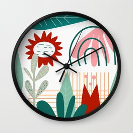 Conceptual flora Wall Clock