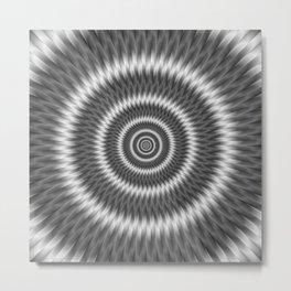 Monochrome Rings Metal Print