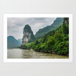 Karst formation on the Li River Guilin, China Art Print