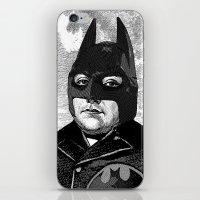 bat man iPhone & iPod Skins featuring BAT MAN by DIVIDUS