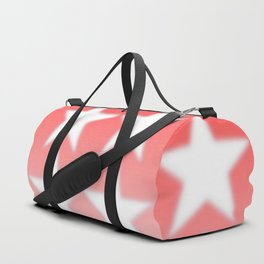 Red and White Stars, Faded Stars, Patriotic Duffle Bag
