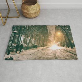 Winter - New York City - Snows Falls - Washington Square Rug